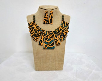 African jewelry for women, mothers day gift, cute gift for mom, choker collar necklace set, gift for mom, statement necklace