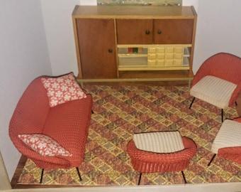 1:48 Dollhouse Miniature Living Room Furniture Set 9 Pieces AZ G1452