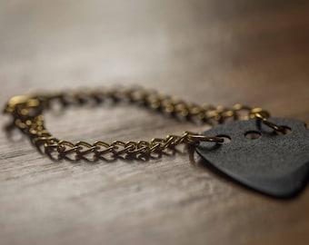 Guitar Pick Bracelet (Black)