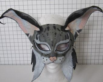 Grey Cat Lynx Mask