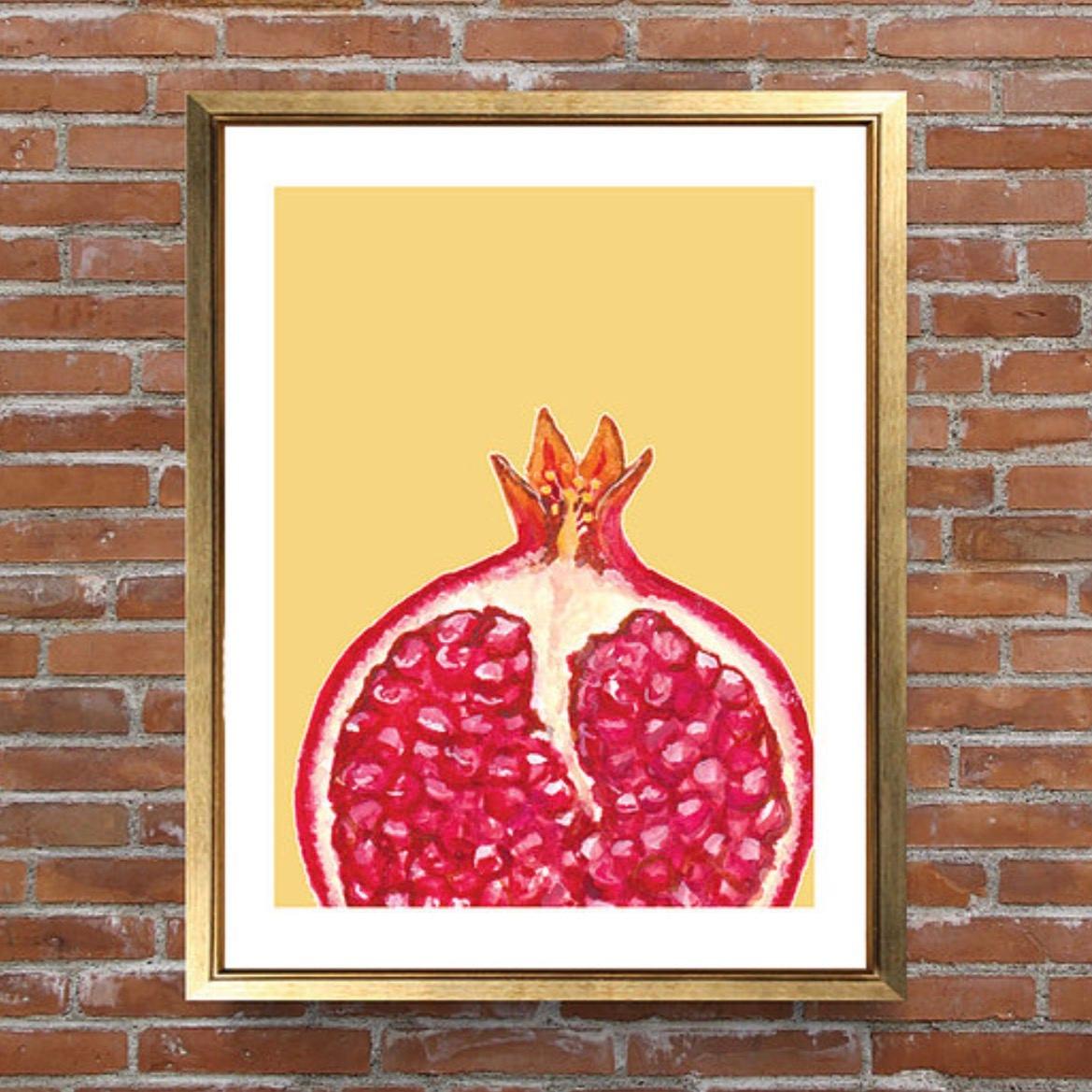 Pomegranate Print Kitchen Art Wall Art Home Decor Fruit | Etsy