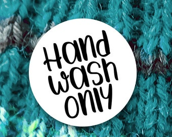 3488a1ff8fe Hand Wash Only Stickers - 1.625 x 1.625