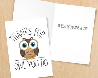 Thank You For Helping Me Grow Digital 5x7 Printable Folded Etsy