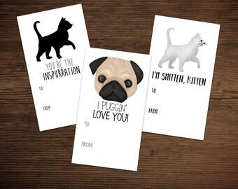 Cute Pug Pun Card Etsy
