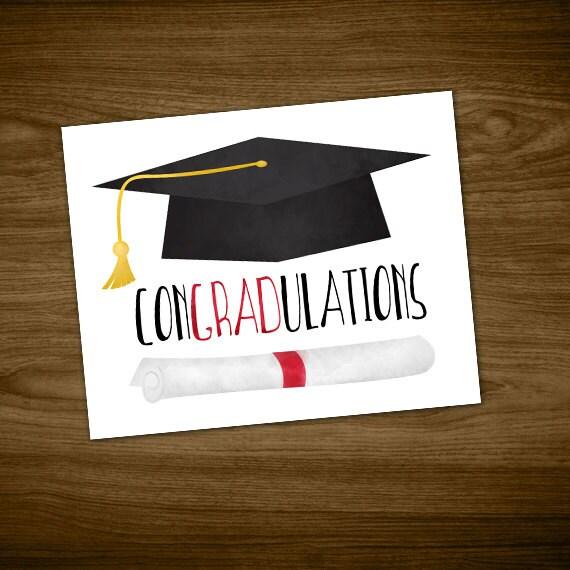 congradulations digital 8x10 printable poster graduation hat etsy