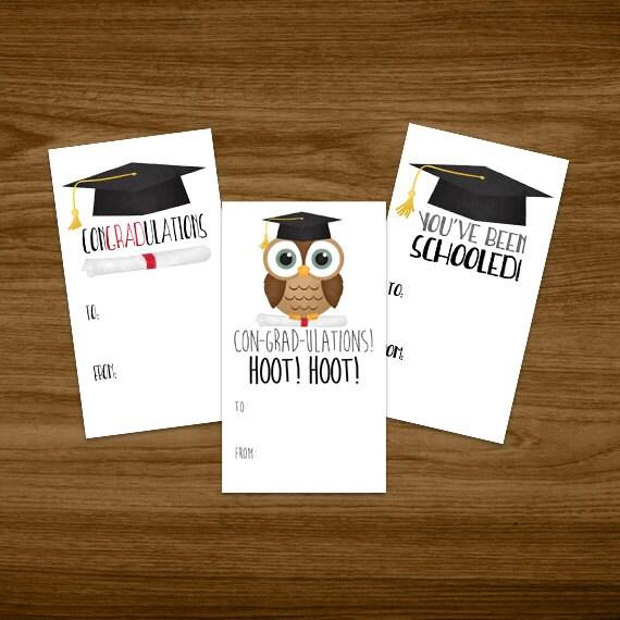 graduation digital printable gift tags set of 3 designs etsy