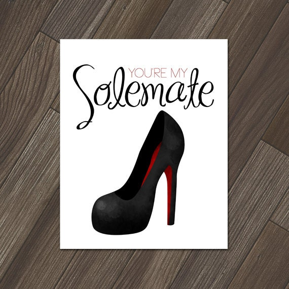Youre My Solemate Funny Printable 8x10 Digital Print Etsy