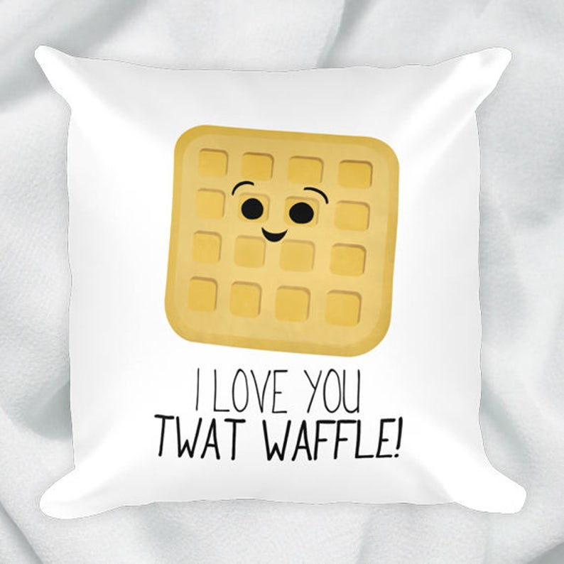 Twat Waffle 18x18 Square Pillow Case