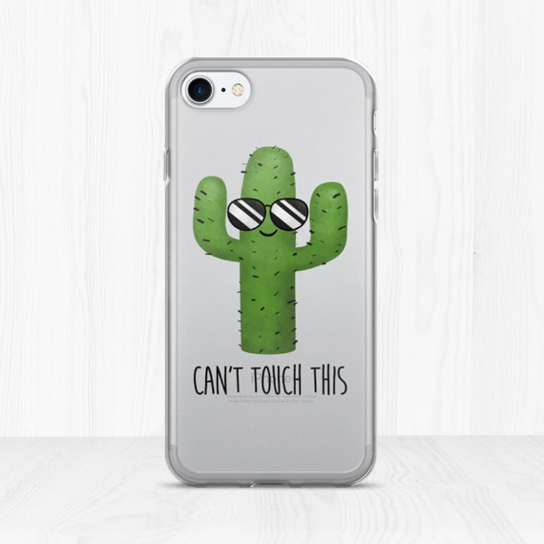 huge discount e845f 0e5ad Can't Touch This - Clear iPhone Case - Funny Cactus With Sunglasses Prickly  Desert Plant Tree Succulent Cacti Lover Summer Fun Phone Cases