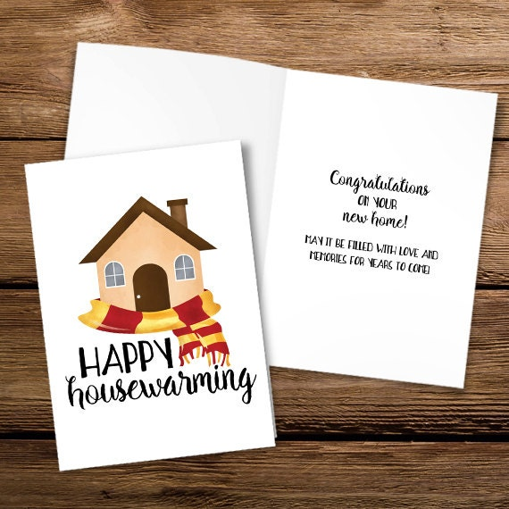 picture regarding Printable Housewarming Card known as Content Housewarming Electronic 5x7 Printable Folded Card - Dimensions Whilst Opened Is 10x7 - Humorous Congratulation Upon Your Fresh new Household Pun Area Puns Scorching