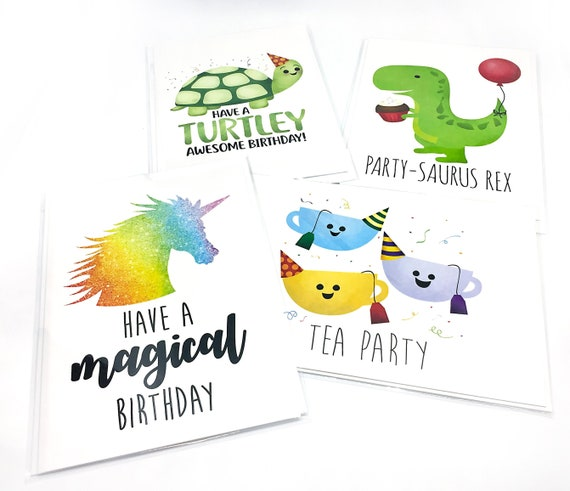Fabulous Funny Kids Birthday Cards 5X7 Folded Card Size When Opened Etsy Personalised Birthday Cards Paralily Jamesorg