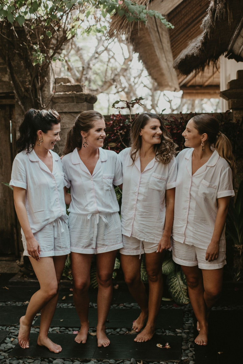 37265b433642 Bridesmaid Rompers Pajama Sets Bridal Party Pajamas
