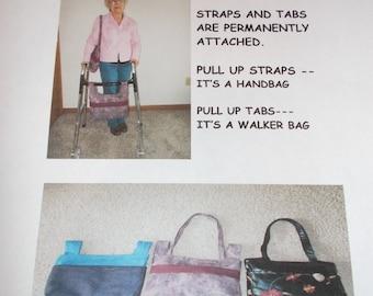 WALKER BAG pattern // PDF// 2 in 1 pattern Shoulder bag