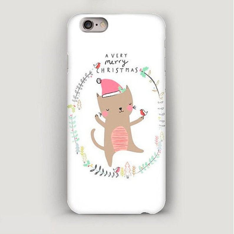 best service 6bffe 87aeb iPhone Case Merry Christmas Cat, iPhone 6 Case, iPhone 6 Plus Case, Funny  Case for iPhone, iPhone 5s Cover, iPhone 5 Case, iPhone 4 Case