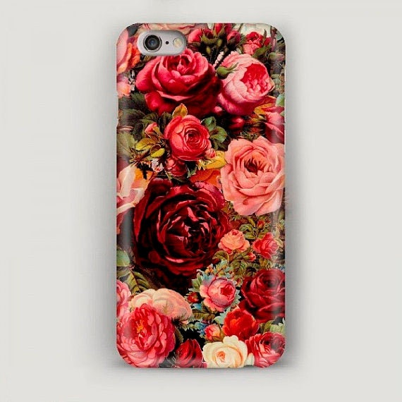 timeless design 35686 00bf9 Red Roses iPhone 6 Case, iPhone 6 Plus Case, Flowers iPhone Case, Red 5s  Case, iPhone SE Case, Gift for Wife, Apple Case, iPhone Case 7