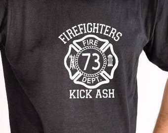 367c1b1b25 Firefighters Kick Ash, Firefighter T-Shirt, Men's T-Shirt