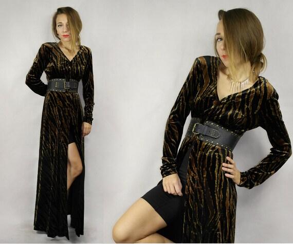 Vintage velvet jacket  / Vintage Velvet dress  / T