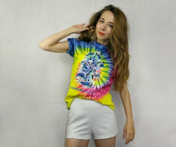 Tie dye T Shirt / Colorful t shirt / 90s shirt  /
