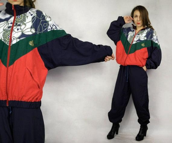 Vintage windbreaker jacket pants / Windbreaker Tra