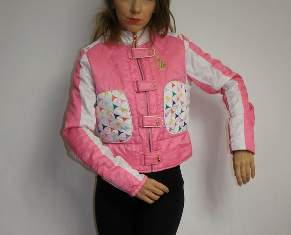 90s baby Phat jacket  Pink Color Block Baby Phat jacket  Light weight jacket  size M