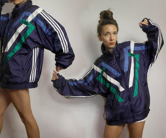 Vintage Adidas windbreaker / Color block Adidas /