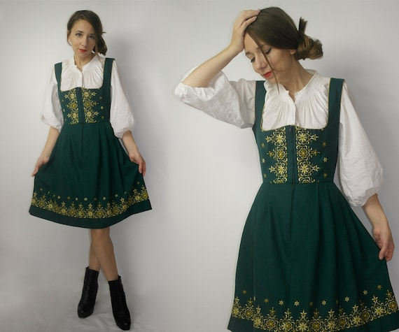 Trachten Dress /  Dirndl Dress / Embroidered Dirnd