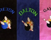 Personalized Bowling, Bowling Towel, Embroidered Sports Towel, Bowling Team-Gift Men Women 16 x 26
