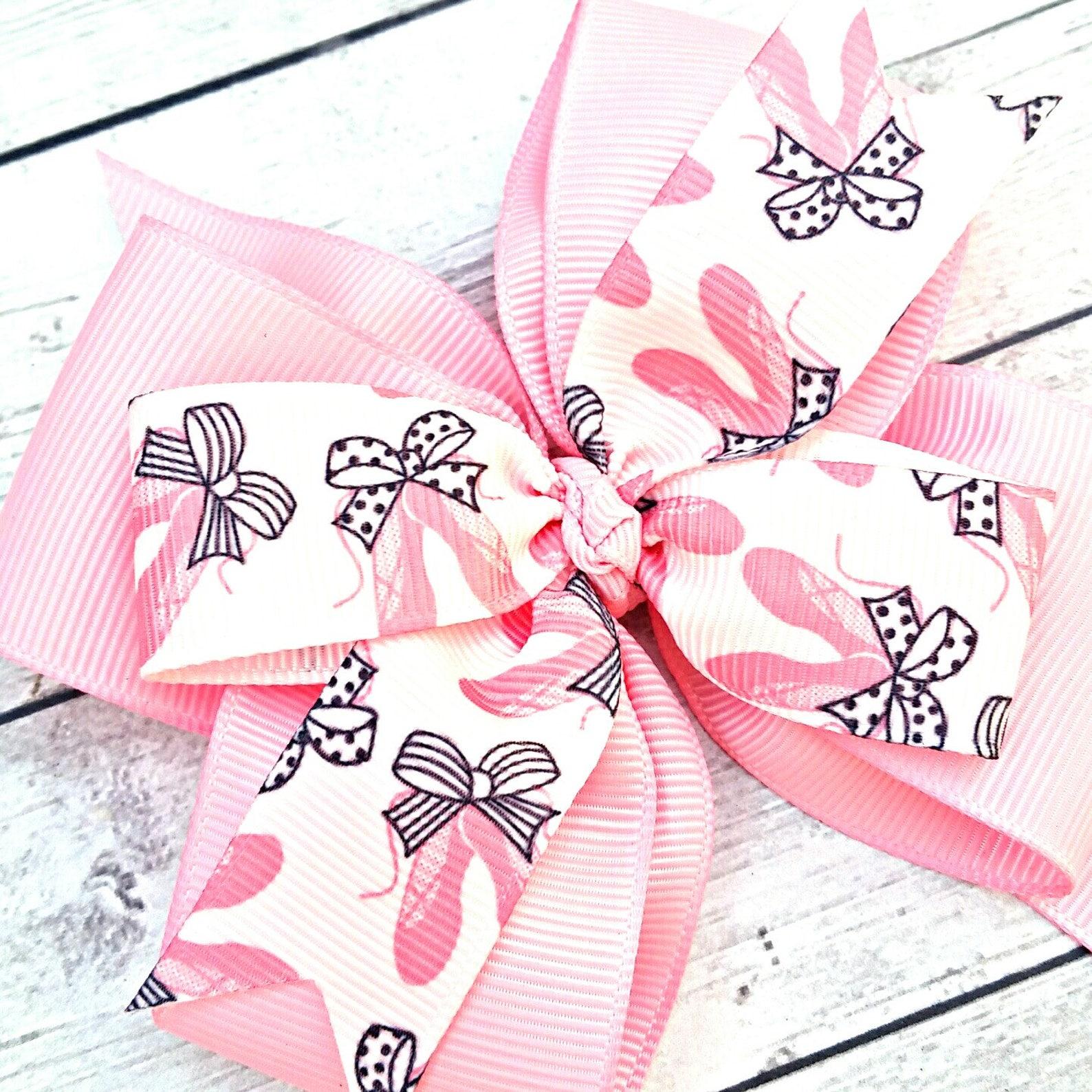 ballerina hair bow, ballet hair clip, dance bow, ballet slippers bow, ballet hair bow, 4