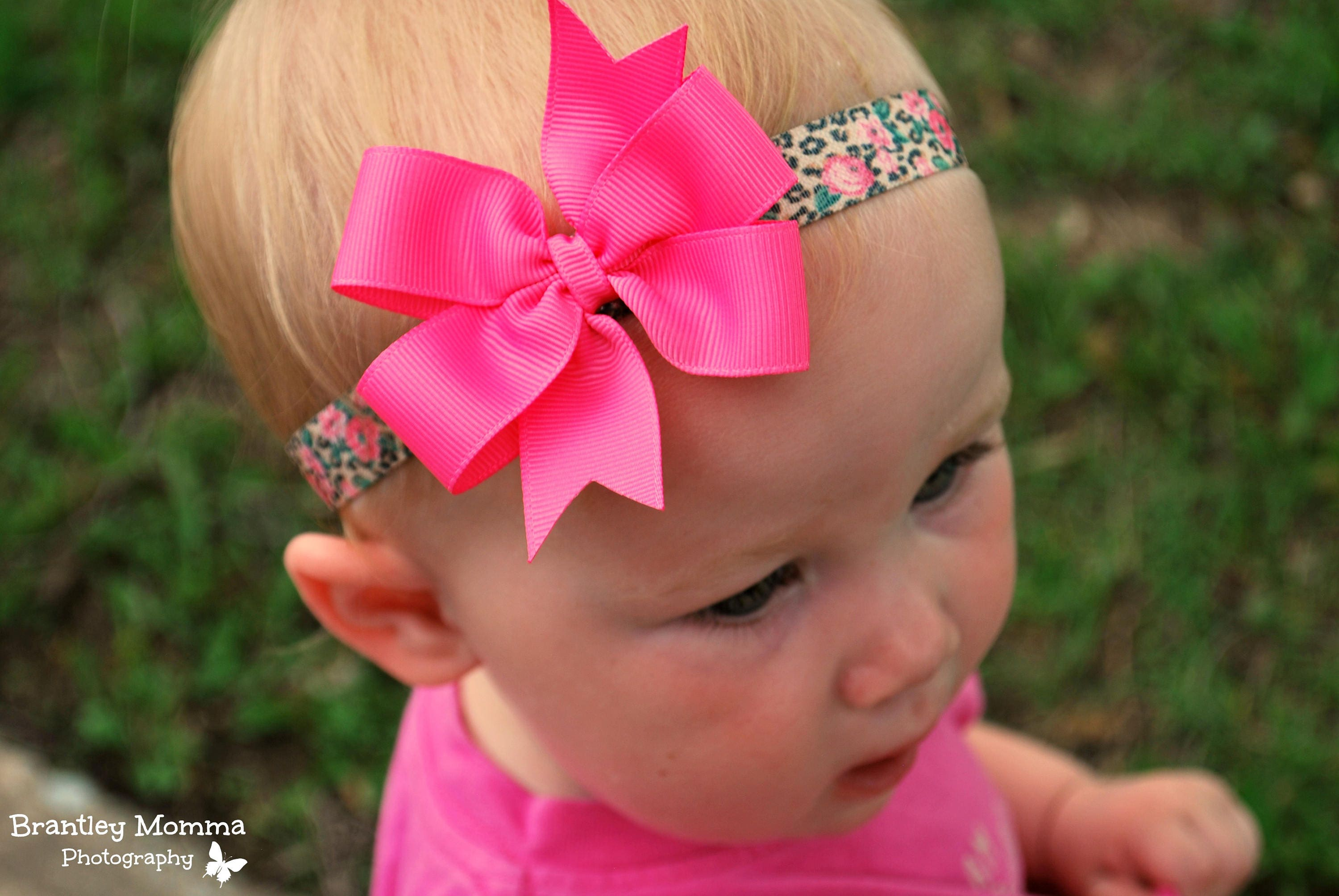 Pink Baby Headband Pink Leopard Headband Baby Bows Toddler  216e7a85e07