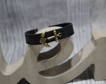 Leather strap anchor