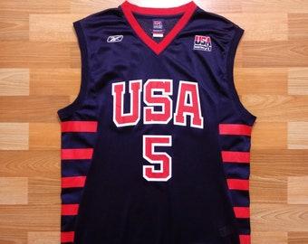 ee77f79d6c94 Jason Kidd USA Team Jersey 5 size L large NBA basketball Reebok