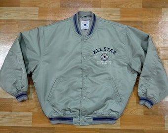 04f60e44ac62 Converse All Star Chuck Taylor Jacket size XL extra large bomber baseball  quilted embroidered