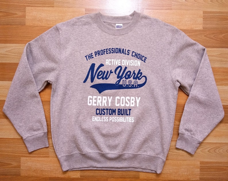 Gerry Cosby sweatshirt size LXL large USA sportswear brand New York pullover sweater