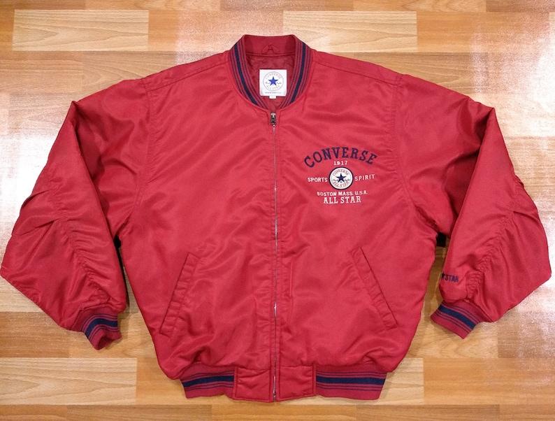 Converse All Star Chuck Taylor Jacket size L large bomber  bda3e9a79d2e