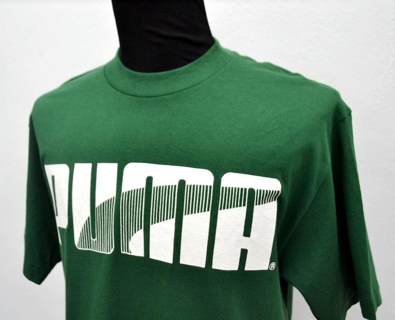 2fb48e08f94 Rare Vintage Puma T Shirt made in USA size M/L medium large | Etsy