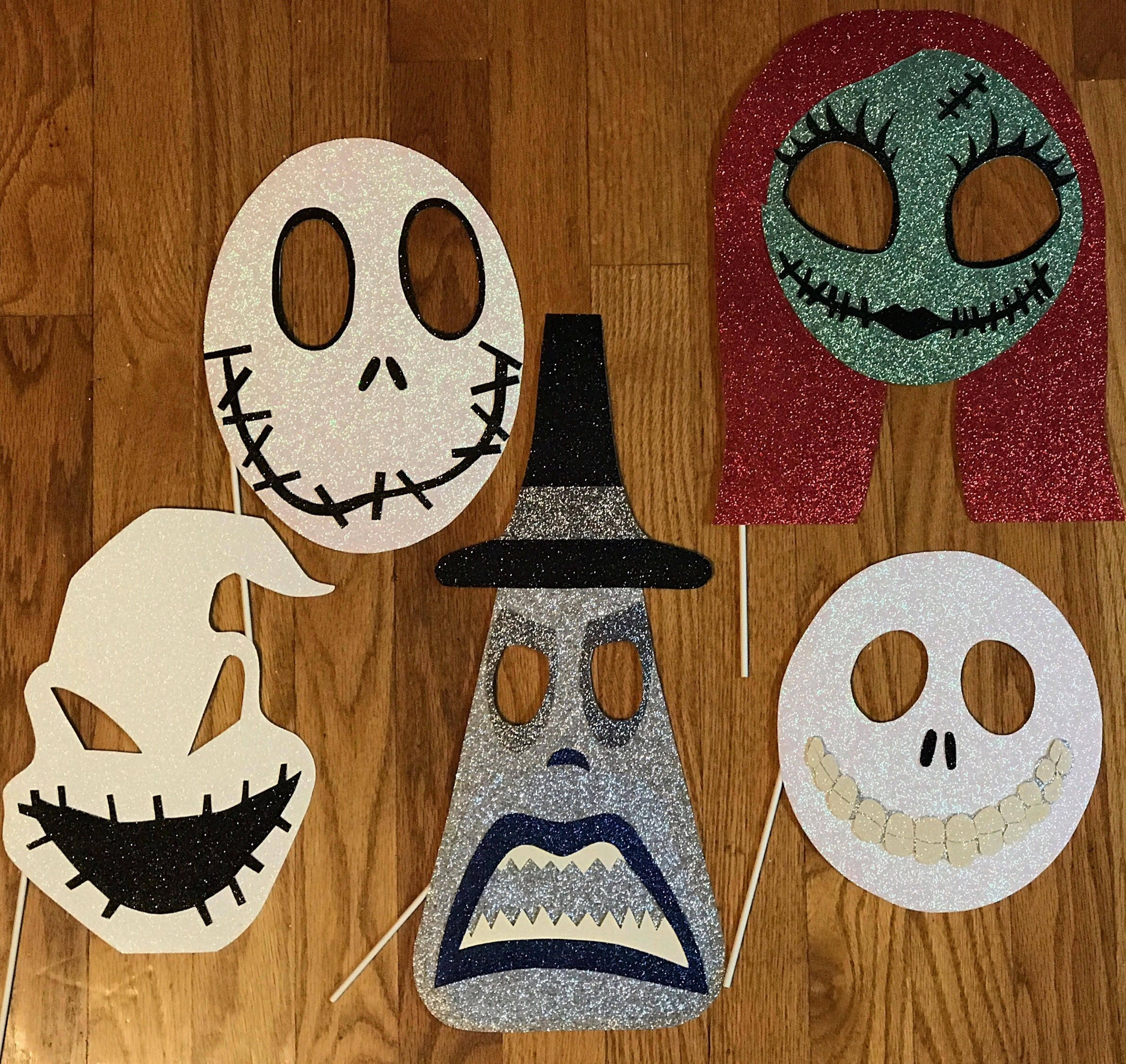 Nightmare Before Christmas Photo Booth Props | Etsy