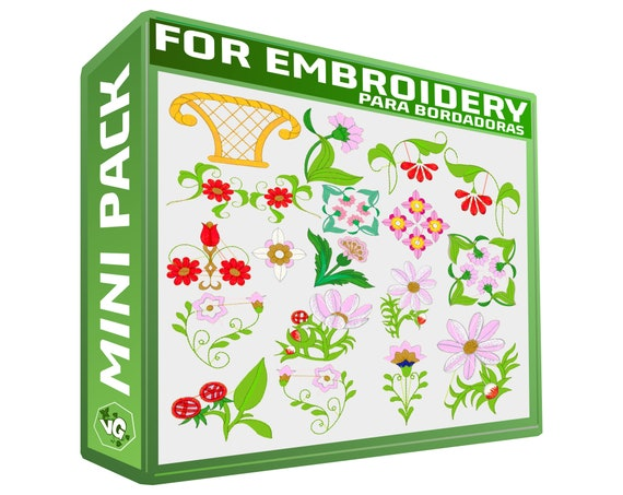 Big Floral V2 Special Embroidery Designs Sewing Brother Emb Etsy