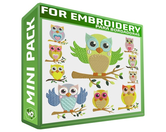 Owls Cutes V1 Pack Embroidery Designs Sewing Brother Emb Hus Etsy