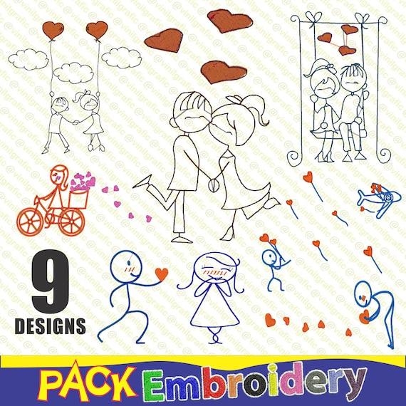 Romance Stick vol.1 set 9 Bordados Listos Programas Costura para maquinas  bordadoras incluye software visor convertidor