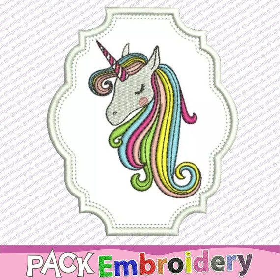 Unicorn stamp applique embroidery design sewing brother emb | Etsy