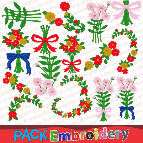 Big Floral V1 Special Embroidery Designs Sewing Brother Emb Etsy