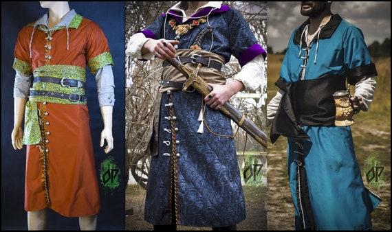 Robe kontusz żupan fantasy de mariage noble de mariage de Witcher Geralt Olgierd von Everec personnalisé réalisé sur mesure 686f85