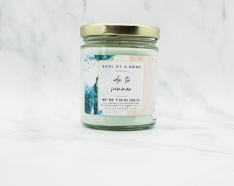 7.25 OZ Ode to Summer Soy Wax Candle