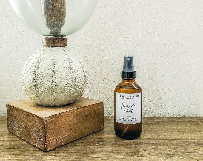 Featured listing image: 4 Oz Fireside Chat Air + Linen Mist