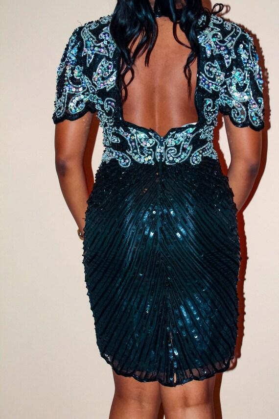 Sequin open back dress - image 4