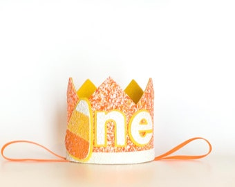Candy Corn Crown Halloween Hat Halloween Birthday Hat Candy Corn Headband Candy Corn Birthday Crown Candy Corn Party Hat