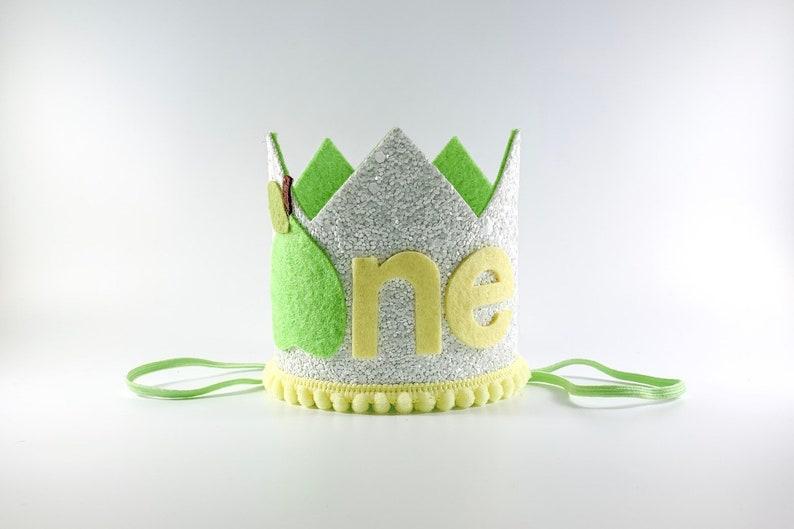 Pear 1st Birthday Crown Twins Pear 1st Birthday Crown Perfect Pair Twin Boys Pear ONE Birthday Party Hat Boy Girl Twins Birthday Hats,