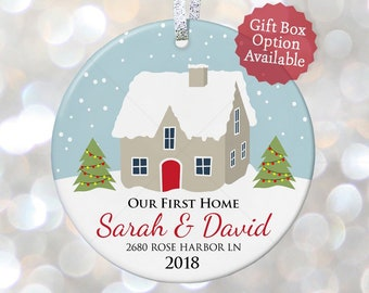 our first home christmas ornament personalized housewarming gift ideas new home gift hostess gift christmas gift for couples 1st home