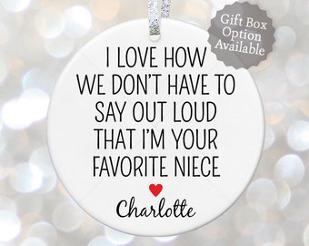 aunt wedding gift for aunt and uncle gift from nephew gift aunt birthday gift for aunt favorite aunt quote aunt present handmade ornament