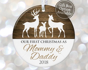 our first christmas as mommy daddy custom christmas ornament baby shower gift for new parents ornament pregnancy gifts for new mom gifts